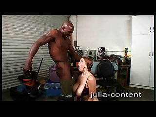My secretary fucked in the workshop