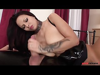 Busty sex machine dominno fucks hard in dominatrix mode