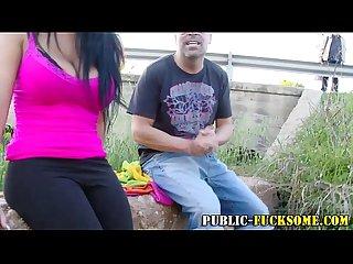 Outdoor anal slut Fuckin