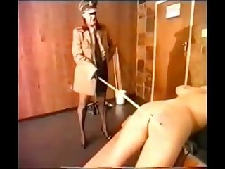 girl get hard caning