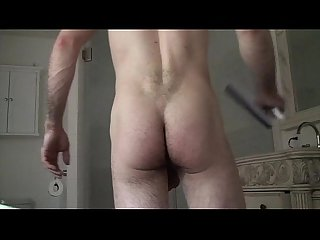 Matthias Christ rubbing cock in the shower