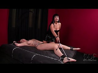 Kinky mistress black punishes slavegirl paige S snatch ass