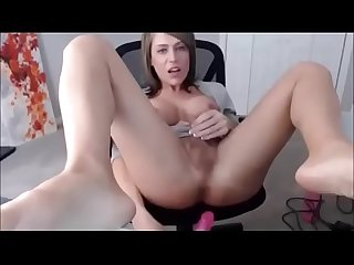 Hot Trap with cute face and nice tits takes dildo in ass