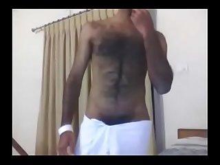 Slim hairy indian guy