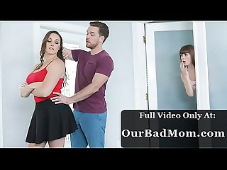 Horny Step Mom Helps Her Son Deal With Morning Wood Beside Sleeping Daughter - Father' Day Sale..