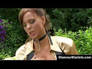 Glam classy slut pounded