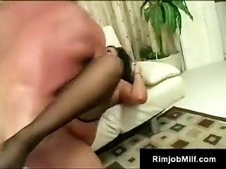 Frisky black hair hottie works lee s cock and asshole