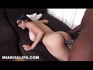 Mia khalifa she S never tried big black dick before so she asks rico strong