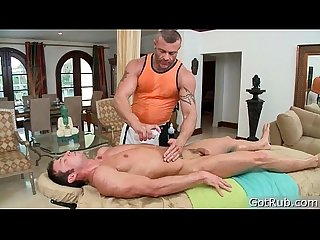Stud gets dick sucked during massage 3 By GotRub