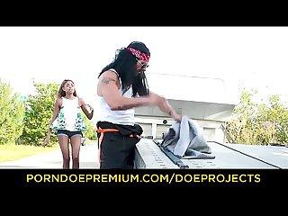 Brokedown babes brazilian luna corazon sucks cock and rides truck driver