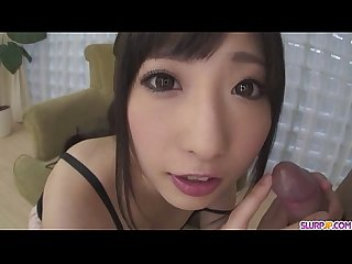 Sexy arisa nakano gives a great pov blowjob