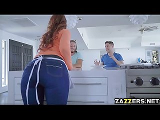 Housewife and a stepmom Syren bangs with three stepsons