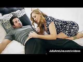 Step mother julia ann mouth fucks step son s cock