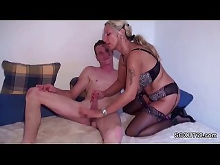 German step mom in lingerie anal fucked by big cock step son