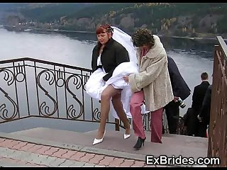 Real brides upskirts