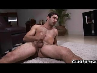 This sexy big cocked college stud is jerking off