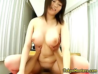 Busty hairy asian fuck and cumshot