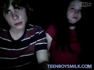 Teen boy and girlfriend on cam