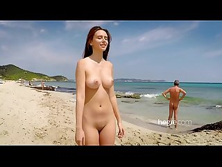 Cute teen nude on Beach