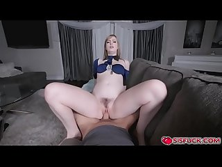 Dolly rides on stepbro S cock