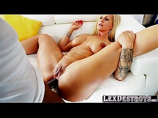 Blonde and a milf ryan conner gets destroyed by lexington steele