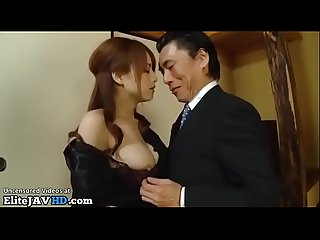 Japanese Milf fucked by the rude boss of her husband