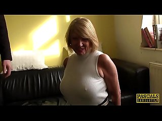 Pascalssubsluts english Milf cuffed and pussy destroyed