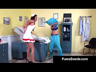 Blonde babe puma swede has 3way doctor sex with hot girls excl