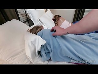 Stepbrother fucks sisters friend during sleepover