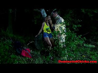 Eurobabe punished in outdoor roughsex aciton