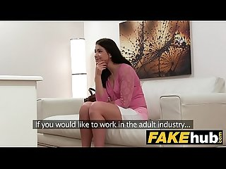 Fake agent russian babe loves to deep throat huge cock