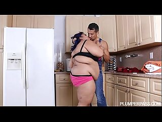 Angry bbw babe is calmed and fucked by hubby S friend