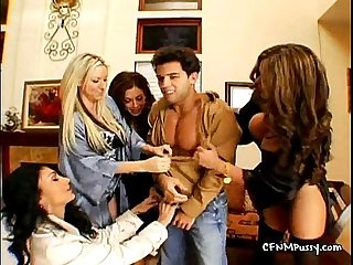 Four horny milfs and a naked slaveycepersiapele01 wm