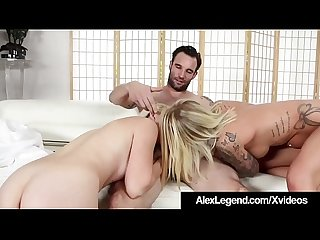 Horny Peep Alex Legend Spies On & Fucks Samantha Rone & GF!
