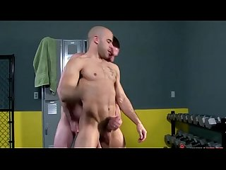 A sexy workout in the gym for these gay jocks who love cock