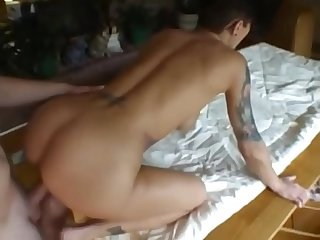 Hot short hair Milf fucked at the kitchen ( New Snap: runarandx )