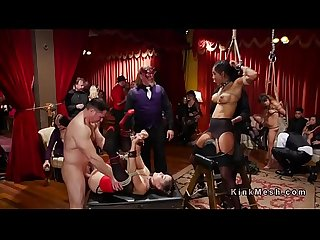 Orgy anal slaves serve costume ball