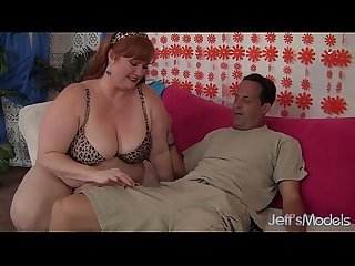 Horny redhead bbw julie Ann more gets her pussy reamed period
