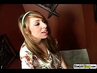 Slutty blonde teen gives nice glory hole blowjob-HD
