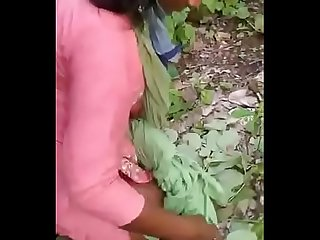 Indian 2 male and 1 female doings sex in forest
