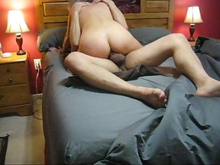 Sexy inshape milf riding cock and getting her ass fucked anal she loves it excl