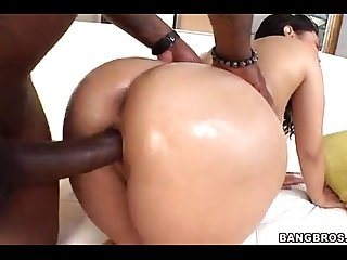 Hot asian with big ass gets destroyed by big black cock