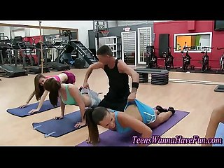 Party teen sluts workout
