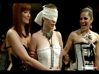 Live and public all girl lesbian bdsm orgy starring justine joli