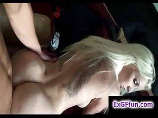 Sexy blonde takes it deep doggystyle on pov amateur film