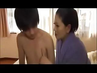Erotic japanese wife with young boy