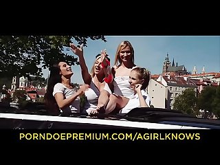 A GIRL KNOWS - Maids of honor have wild lesbo sex fest