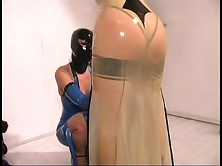 Cute blonde mistress jean in fetish latex bdsm stores com