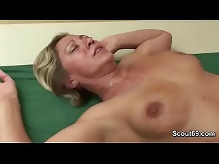 Young boy found step mom in lingerie and seduce her to fuck