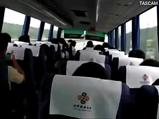 Reality girl masturbation on bus in China Road